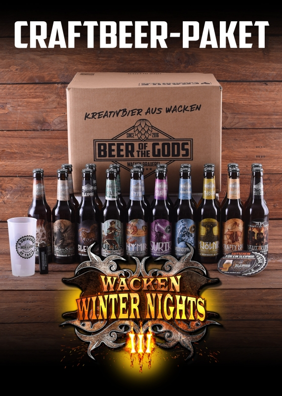 Die Wacken Winter Nights Special Edition von Beer of the Gods der Wacken Brauerei