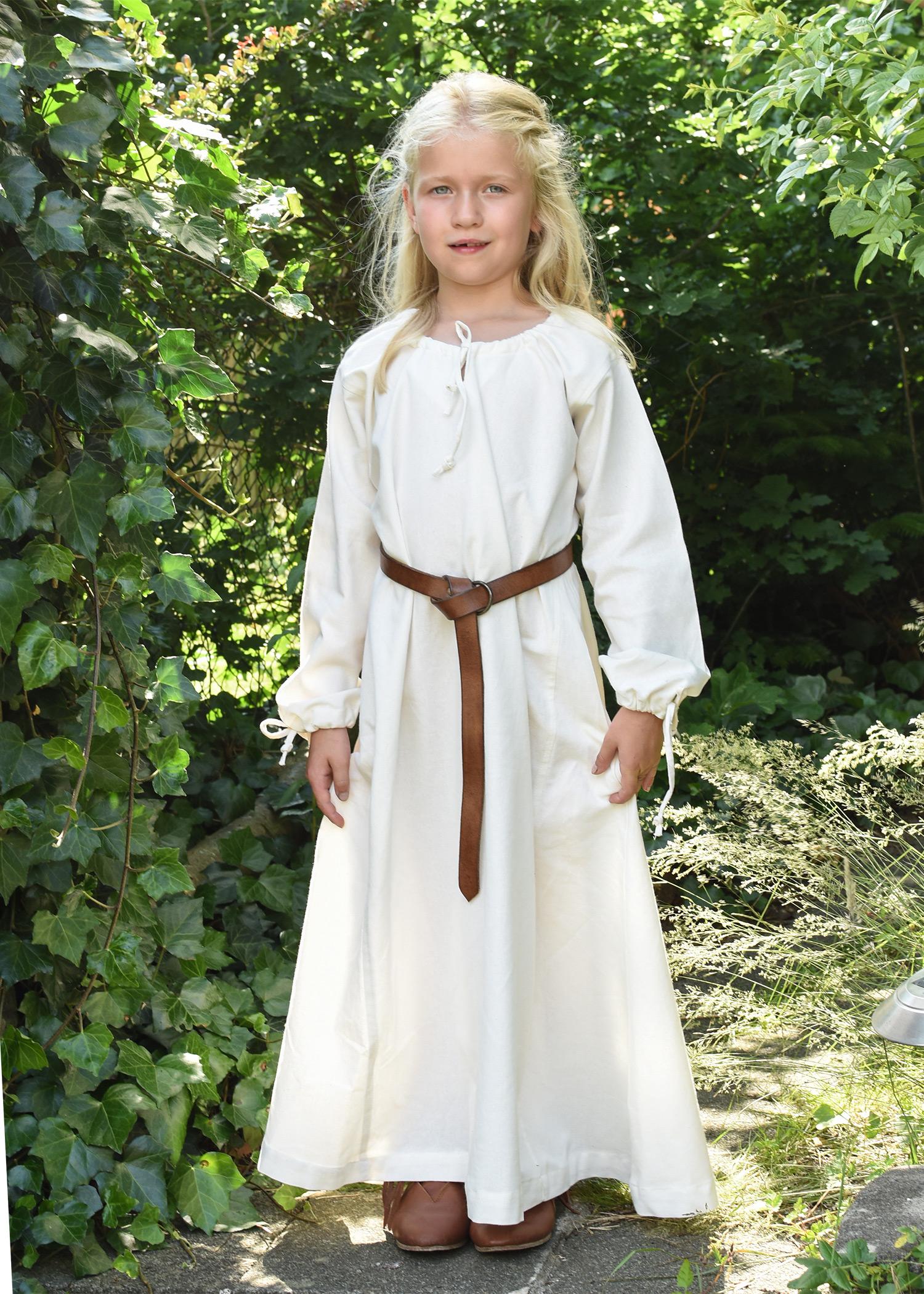 Mittelalterkleid / Wikingerkleid / Unterkleid Ana für Kinder, natur