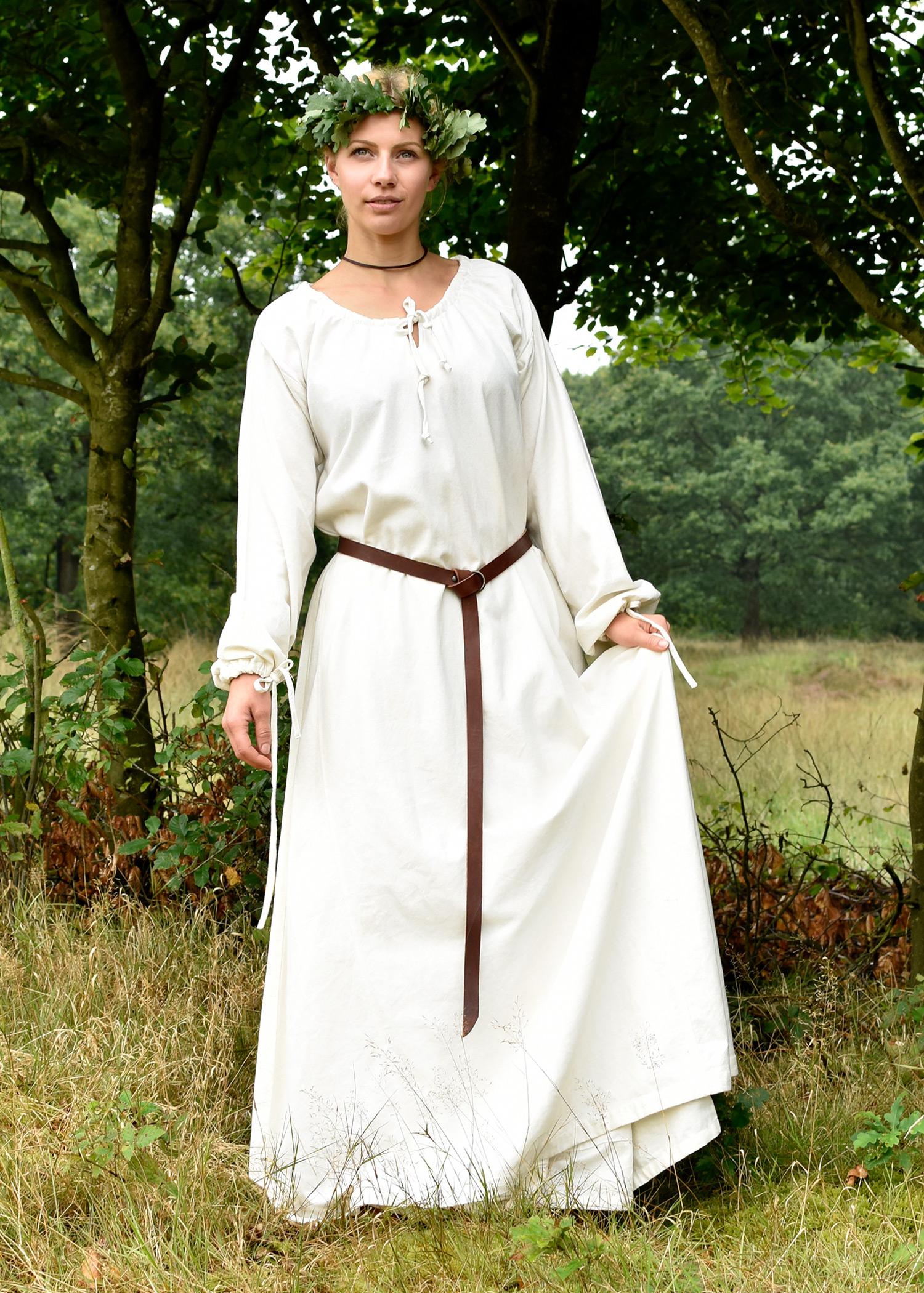 Sommerliches Mittelalterkleid in heller Farbe