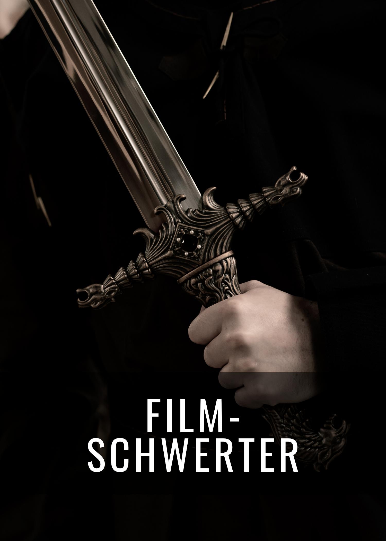 Film-Schwerter von Game of Thrones, Vikings, Der Herr der Ringe und Der Hobbit.