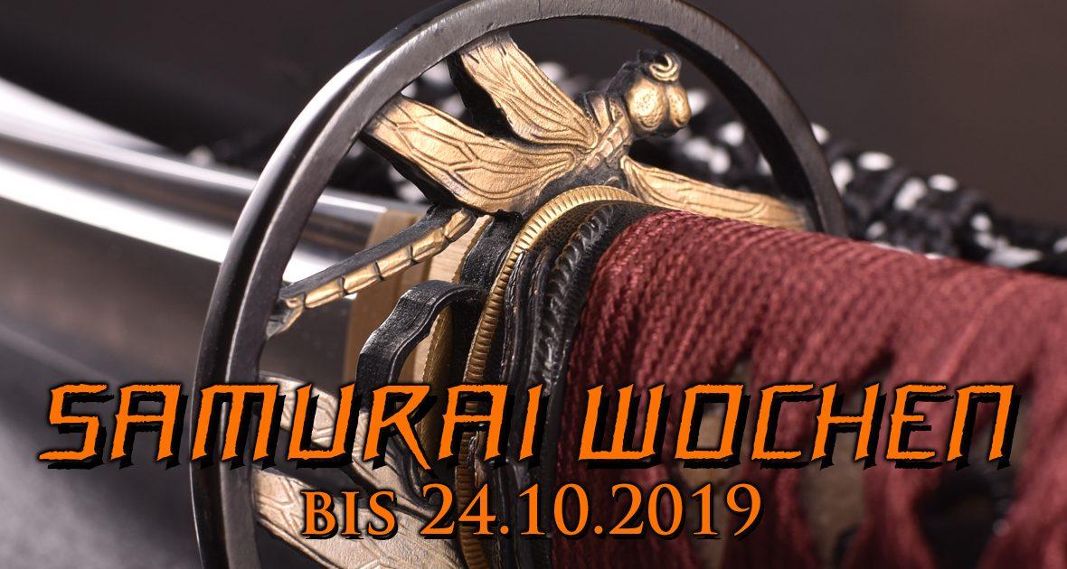 Samurai-Wochen bei Battle-Merchant - bis zu 15 % auf Katanas, Wakizashis, japanische Rüstungen und vieles mehr!