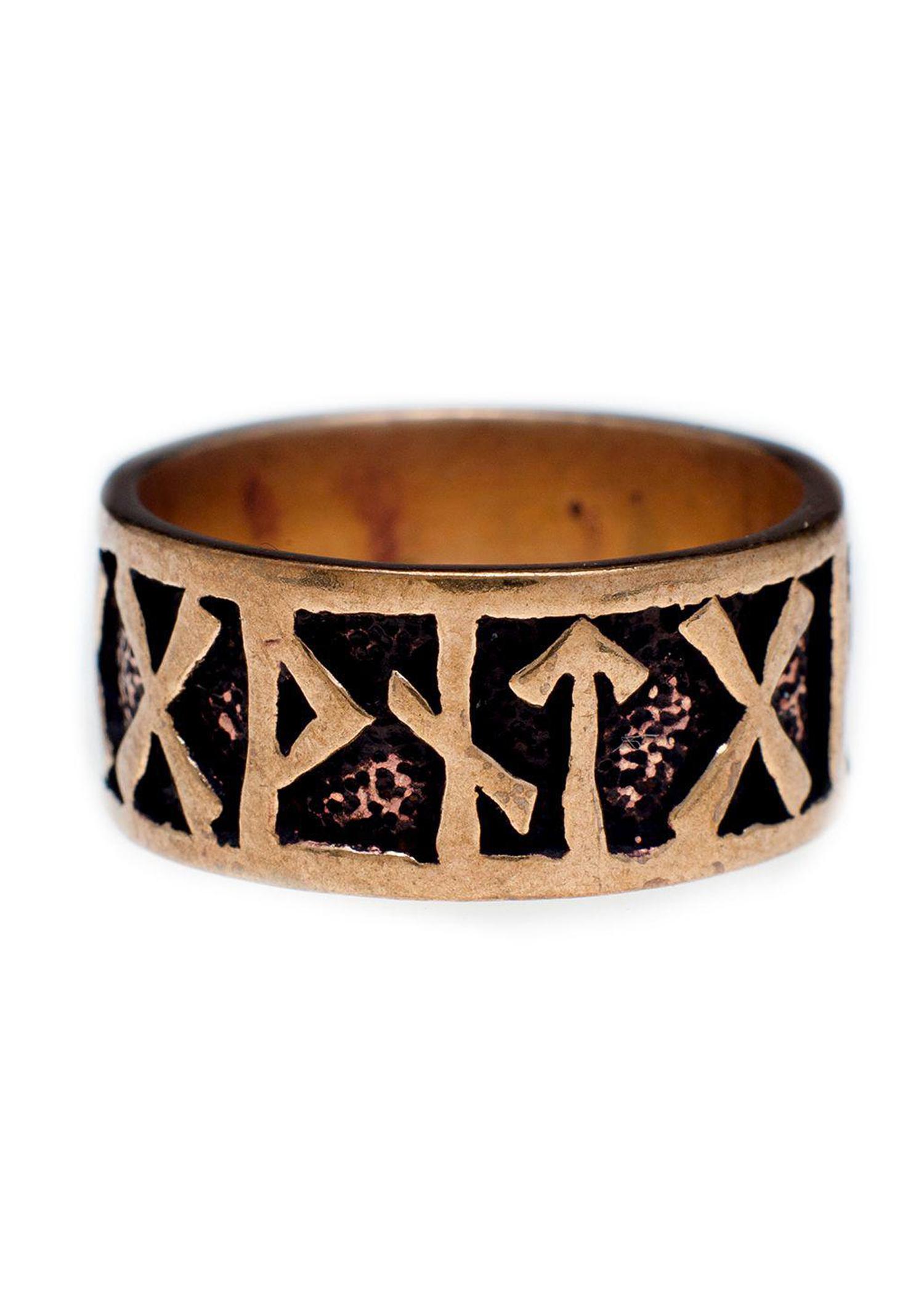 Runen Ring aus Bronze