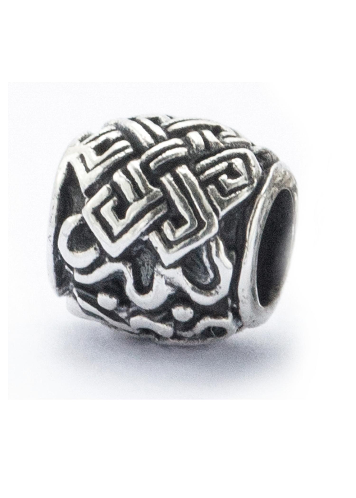 Bartperle mit keltischem Knoten aus Silber