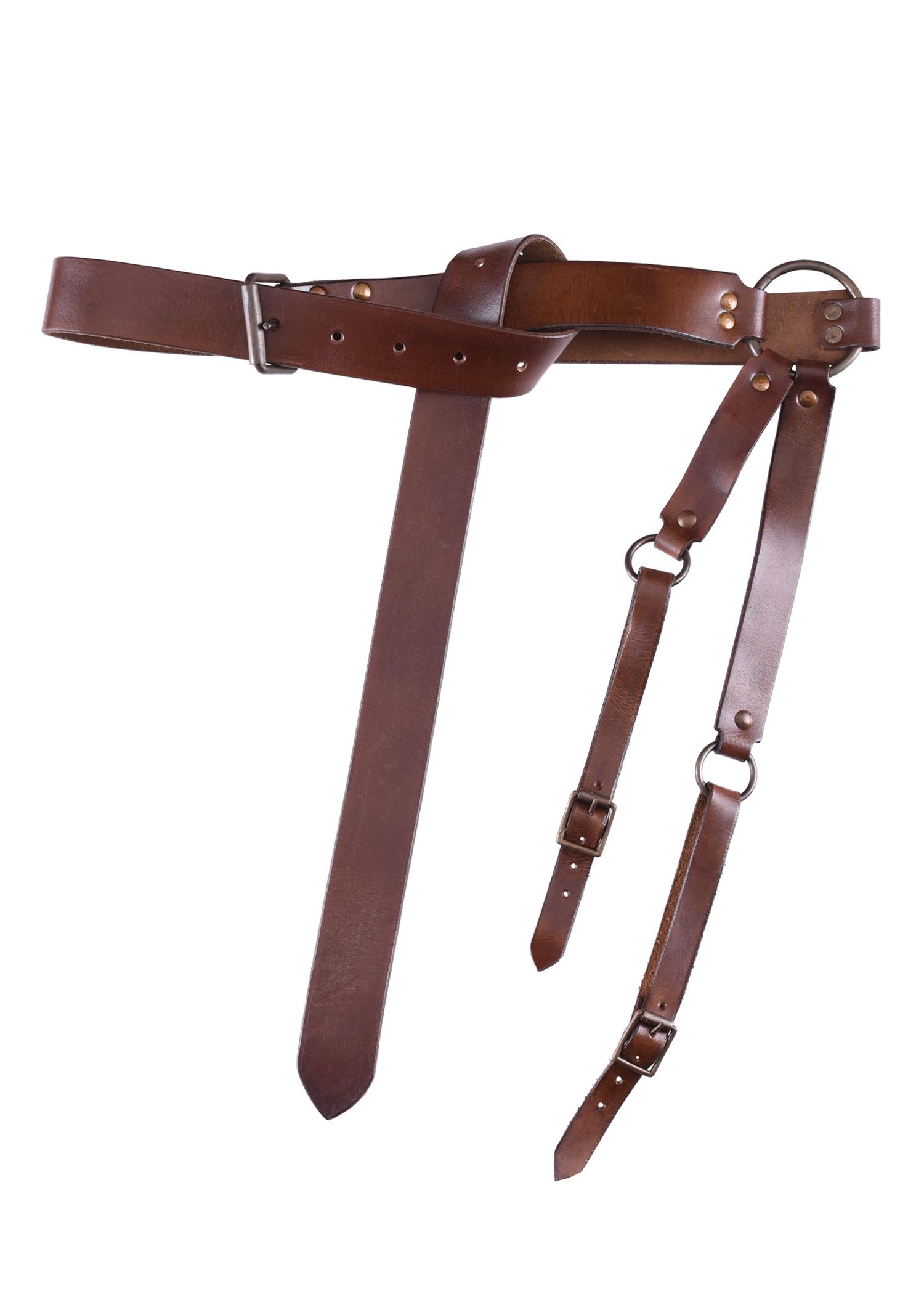 Mittelalter Schwertgürtel aus braunem Leder
