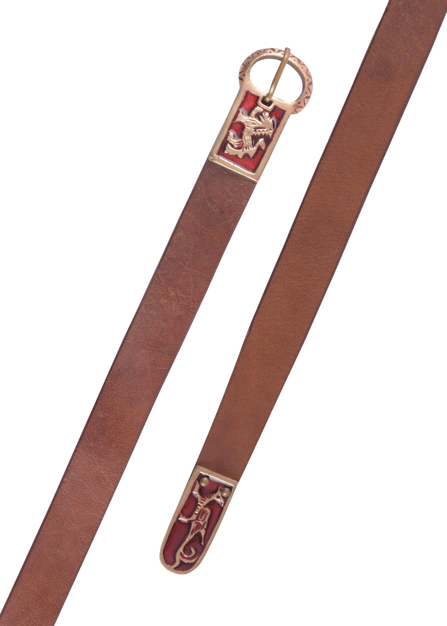 Mittelalter Langgürtel mit Greif und Löwenmotiv
