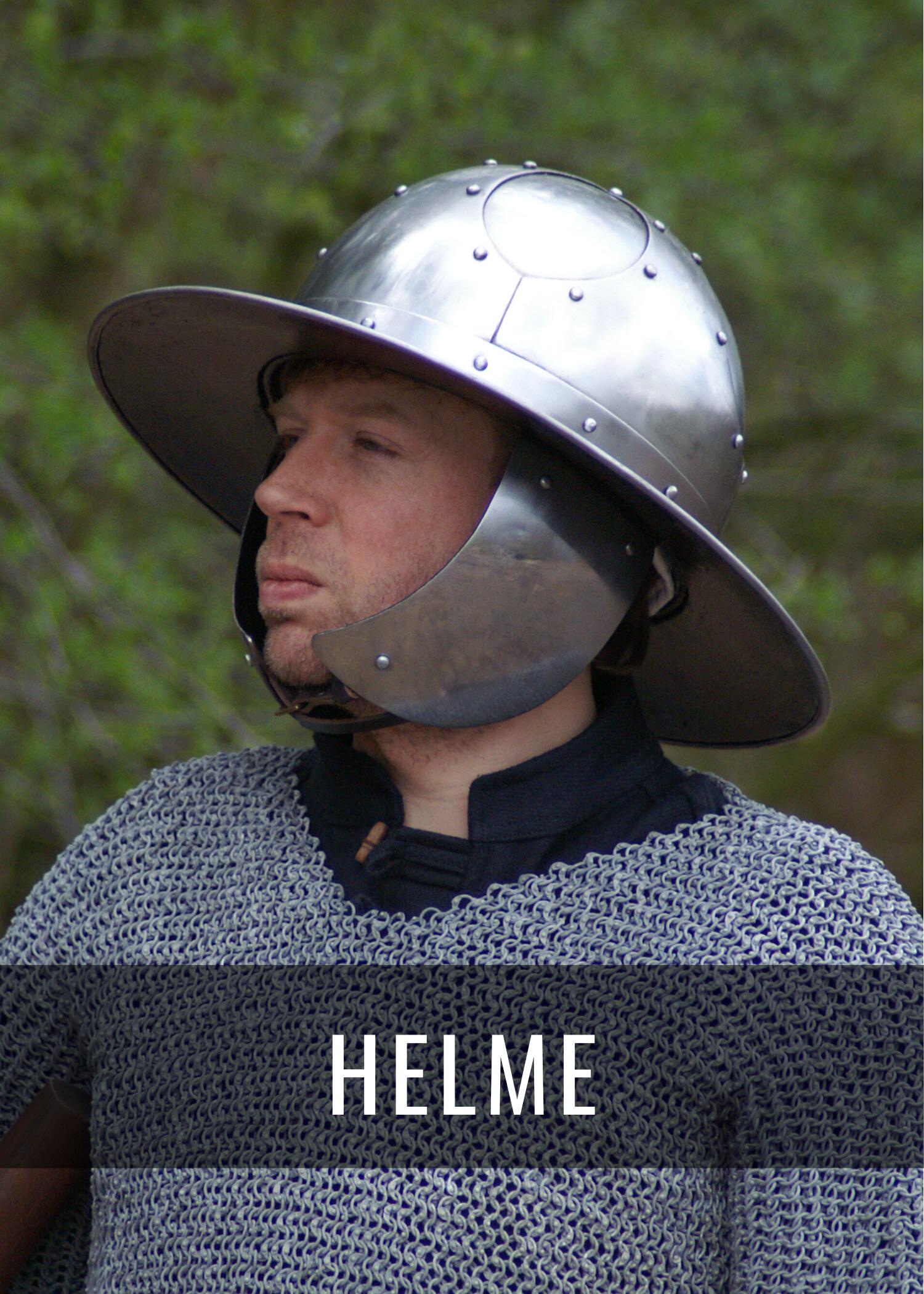 Historische Helme für Schaukampf, LARP und Reenactment