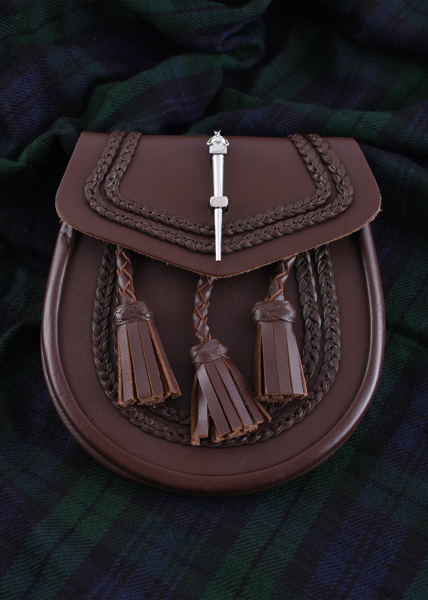 Schottischer Sporran, Kilt-Tasche, braun