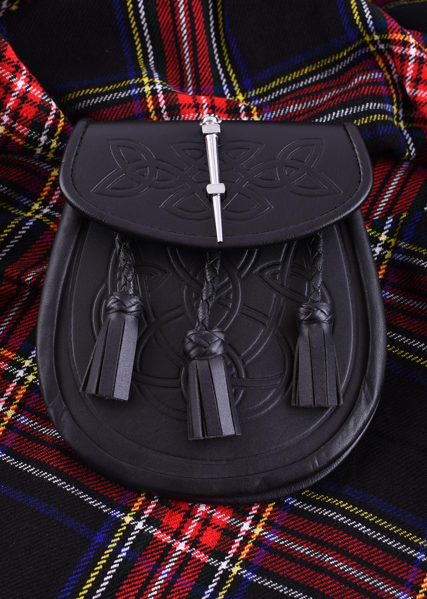 Schottischer Sporran, Kilt-Tasche, schwarz