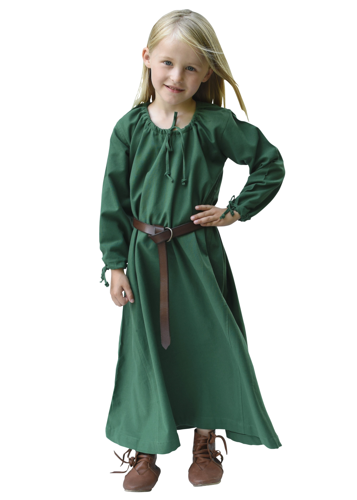 Kinder Mittelalterkleid Ana, grün