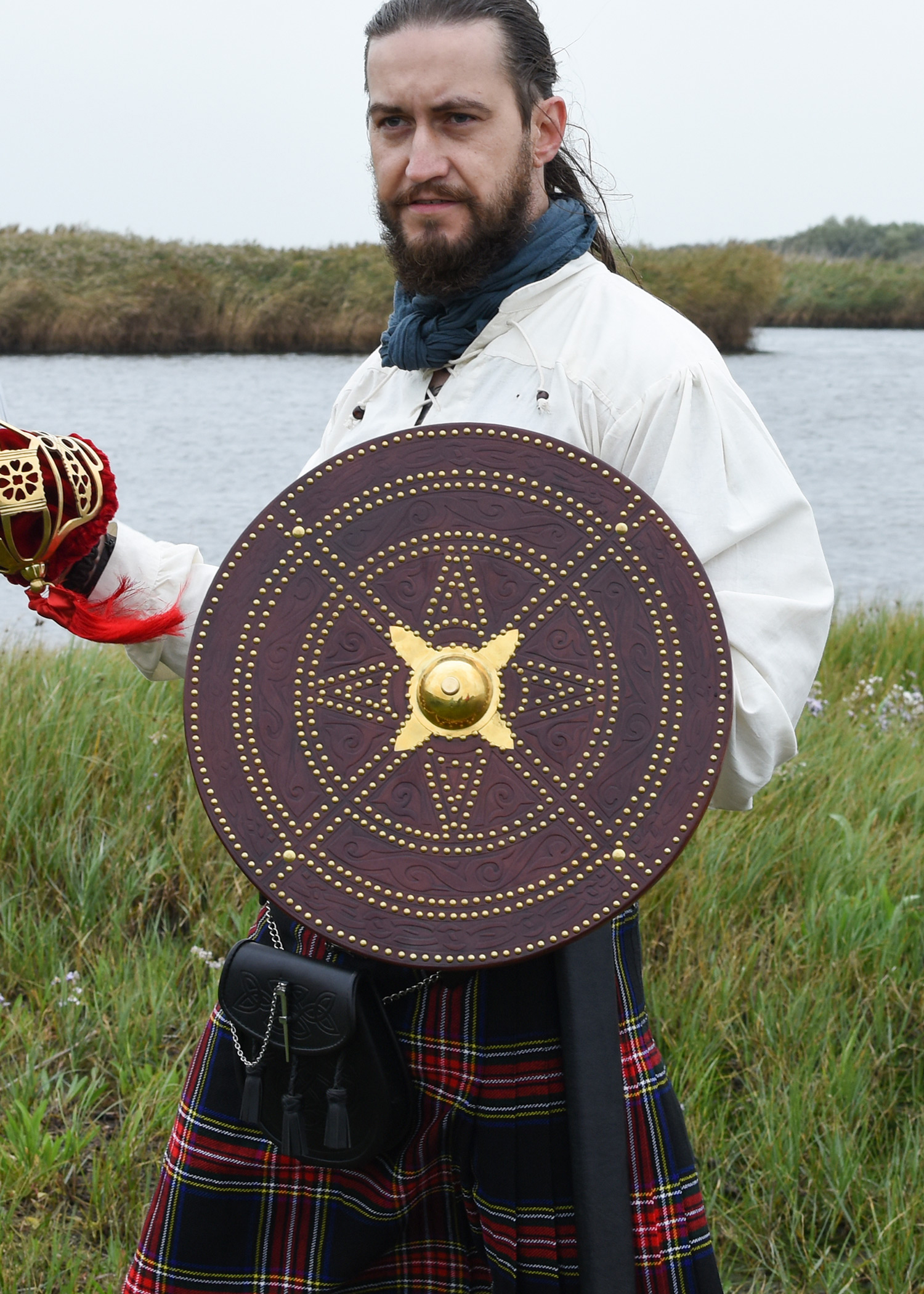 Schottische Targe aus der Schlacht von Culloden