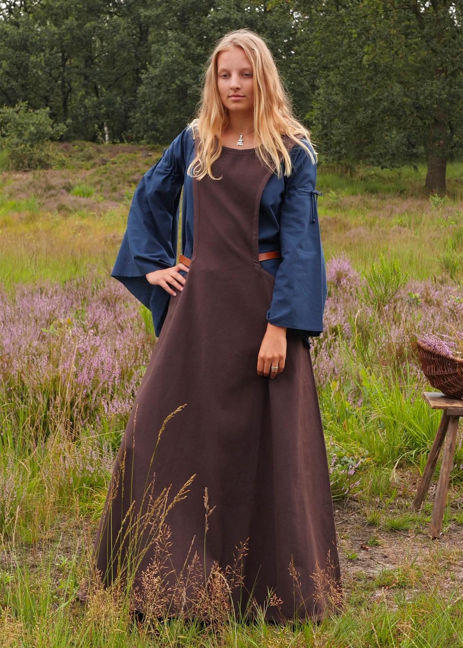 Mittelalter-Überkleid, Surcot Andra, braun