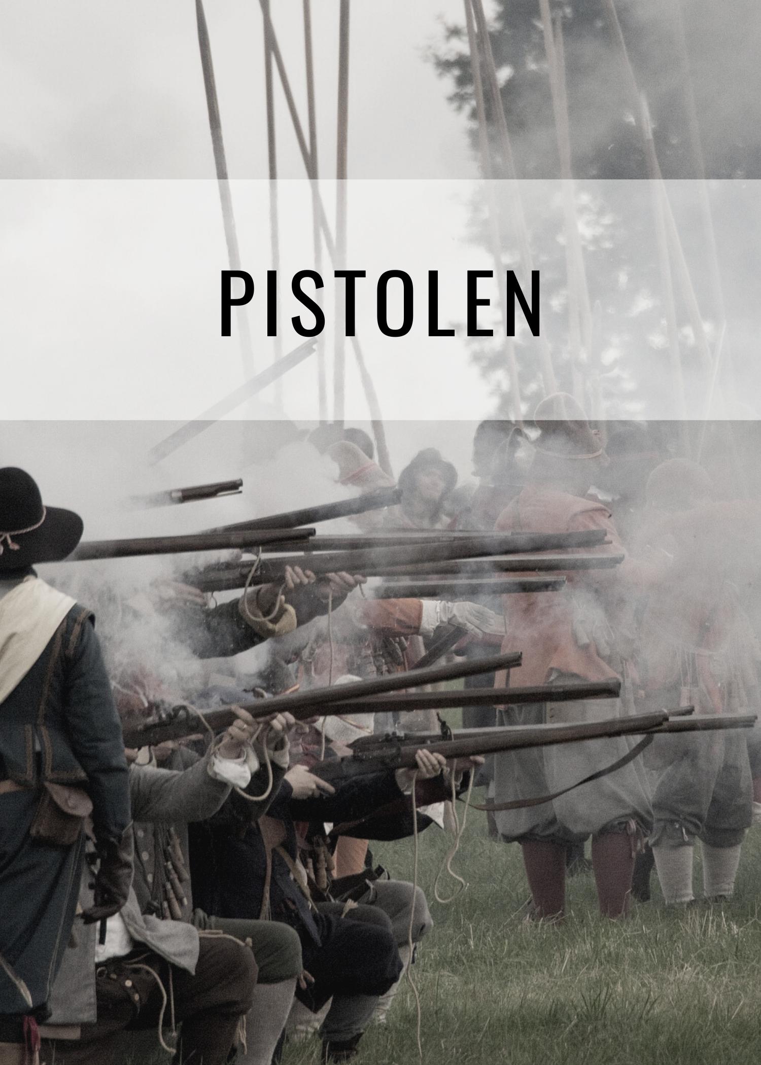 Historische Pistolen für Reenactment, Cosplay und LARP