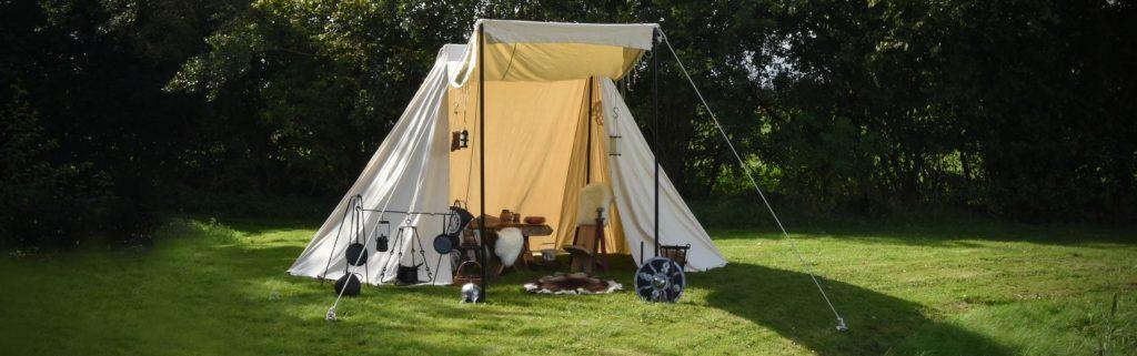 Das Zelt ist Dreh- und Angelpunkt in Deinem Mittelalter Lager
