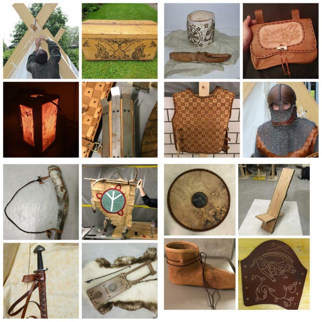 Im Mittelalterverein werden viele Dinge selbst hergestellt.