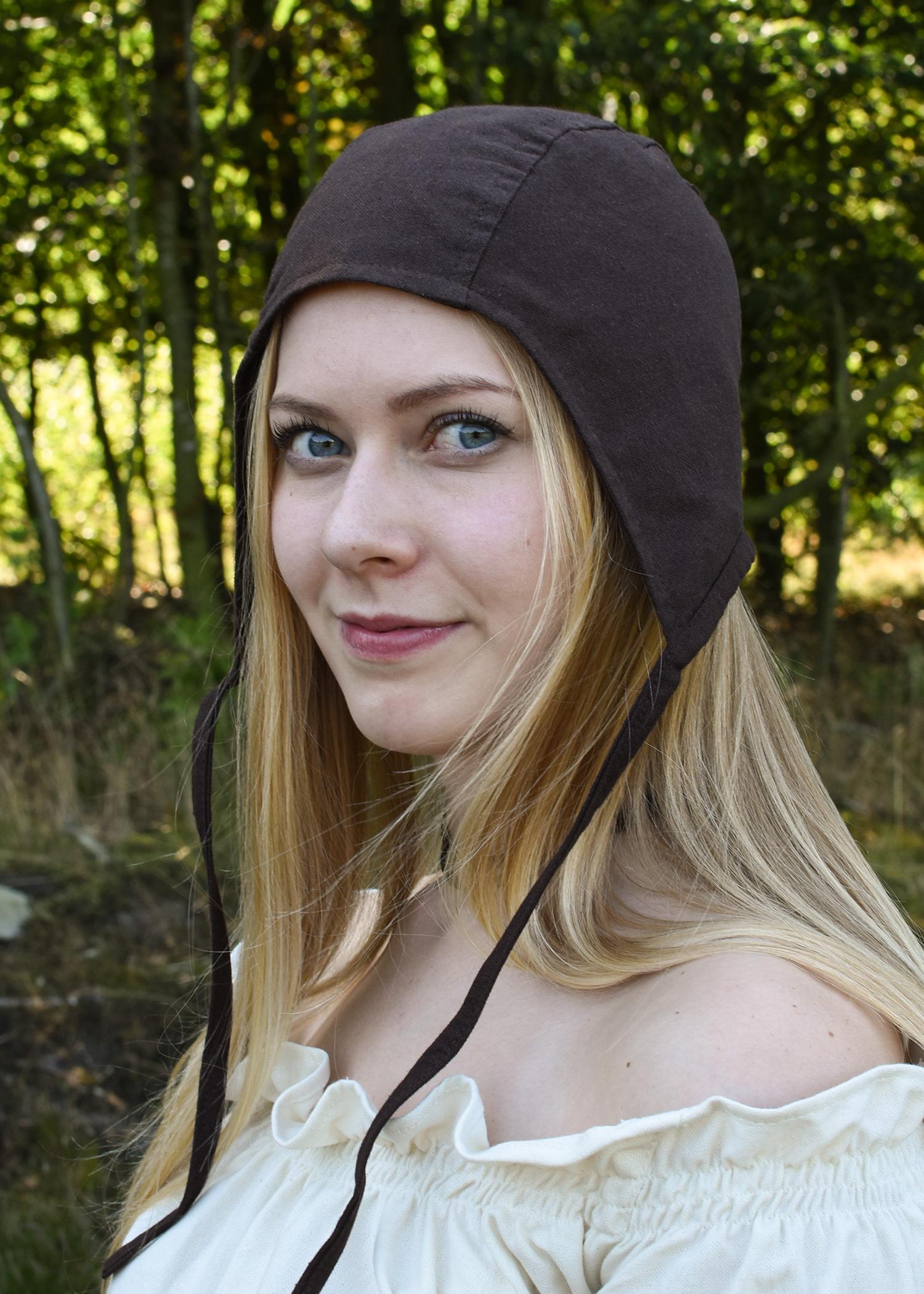 Mittelalter Bundhaube mit Bändern, verschiedene Farben