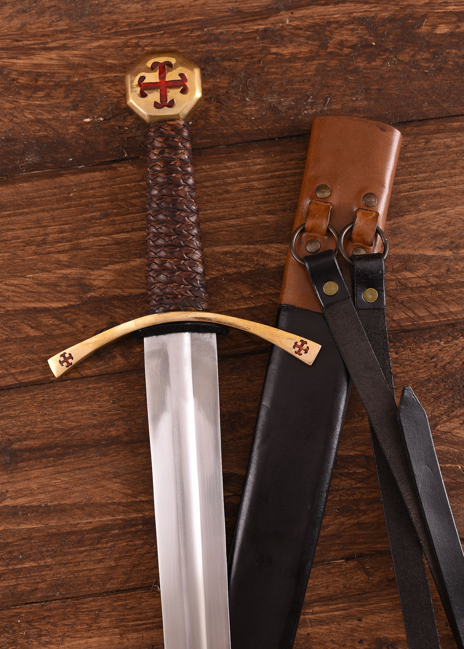 Templer Schwert mit Scheide