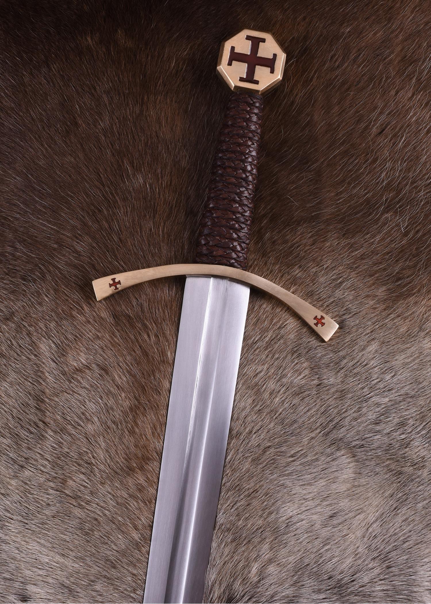 Templer Schwert mit Tatzenkreuz, inkl. Scheide