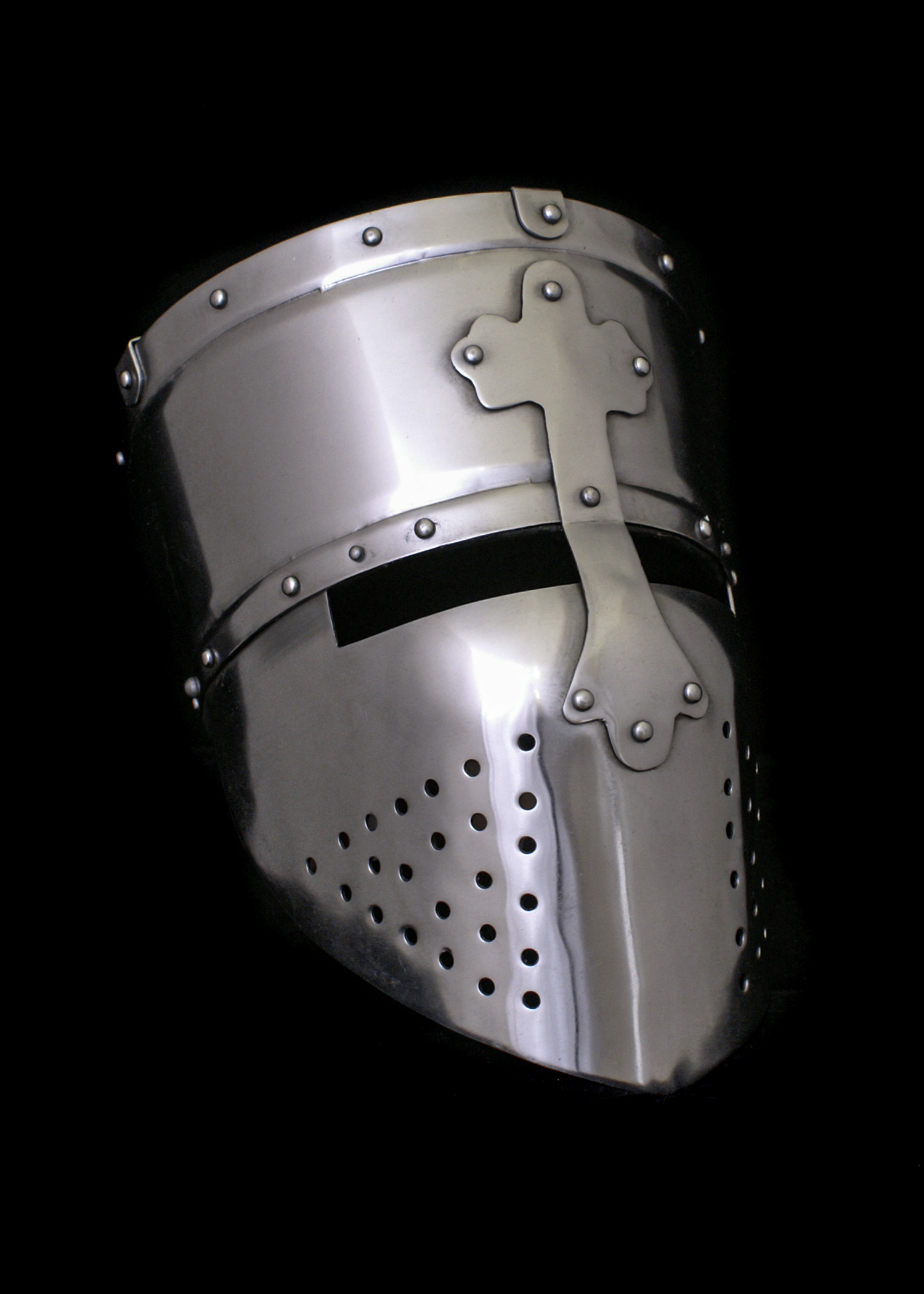 Kreuzritter Helm, Templerhelm, ca. 1200, 1,6 mm Stahl
