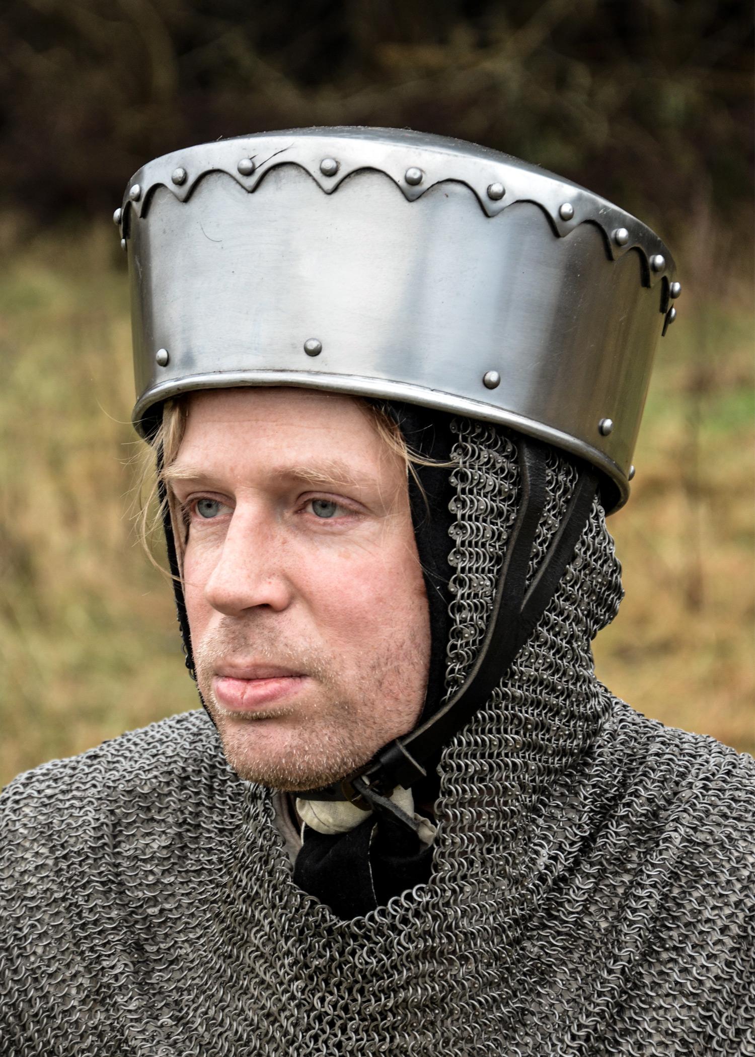 Kreuzfahrer Kalotten-Helm, 2 mm Stahl, schaukampftauglich
