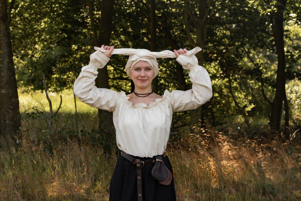 Tutorial Mittelalter Kopfbedeckung (medieval headscarf) - Schritt 4